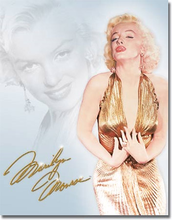 Marilyn Monroe Gold DRESS Tin Sign