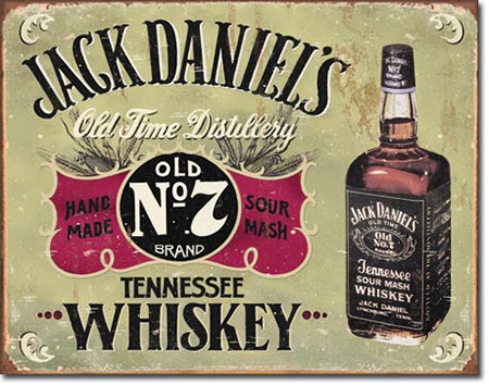 Jack Daniel's Hand Made Whiskey Tin Sign