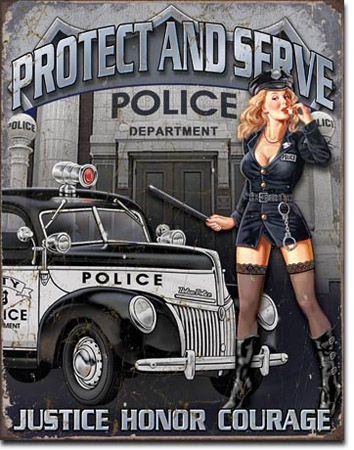 Protect and Serve Tin Sign