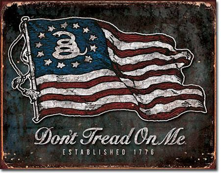 Don't Tread on Me - VINTAGE Flag Tin Sign