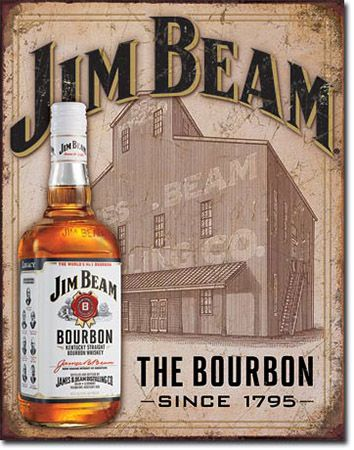 Jim Beam Tin Sign