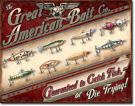Great American Bait Company Tin Sign