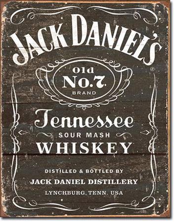 Jack Daniel's Weathered Logo Tin Sign