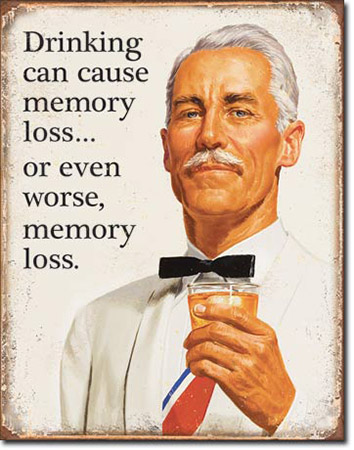 Memory Loss Tin Sign