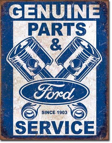 Genuine Ford Parts & Service Tin Sign