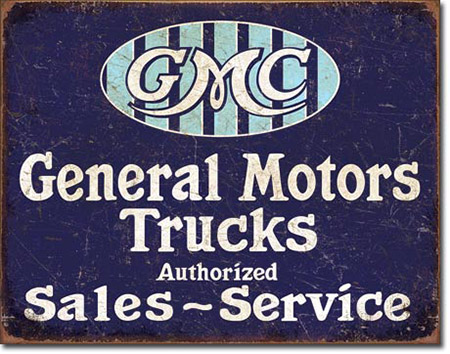 GMC General Motors Trucks Tin Sign