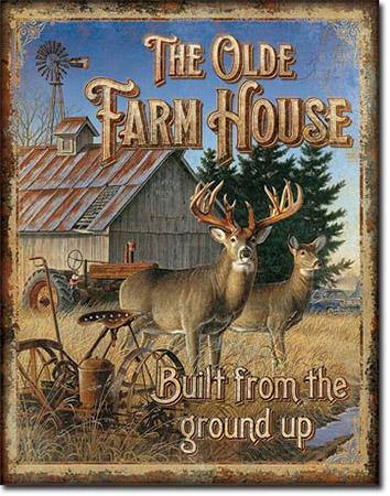 JQ Olde Farmhouse Tin Sign