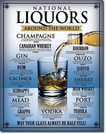 National Liquors Tin Sign