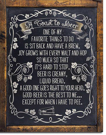 Toast to Beer - Tin Sign