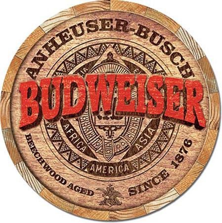 Budweiser Barrell Cap - Tin Sign