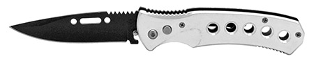 "4.75"" Metal Switchblade - Silver"
