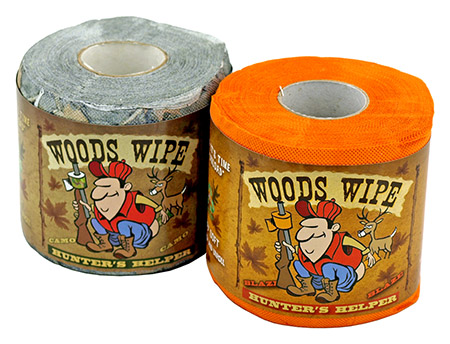 2 - pk. Biodegradable TOILET PAPER - Orange and Camo