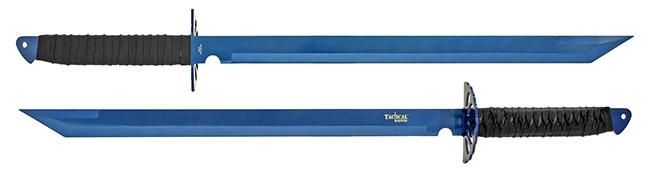 "26"" Dual Wielding Tactical Master Swords - Blue"