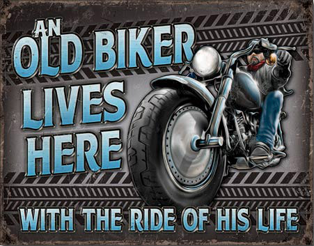 The Ride of His Life - Tin Sign