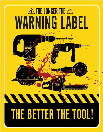 Warning Label - Tin Sign