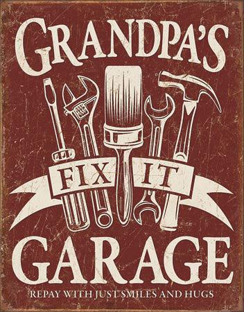 Grandpa's Garage Tin Sign