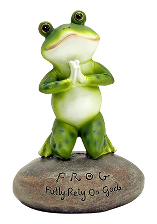 Blessed Assurance - Frog Prayer Figurine Statue