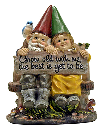 Together Forever - Garden Gnome Statue Figurine