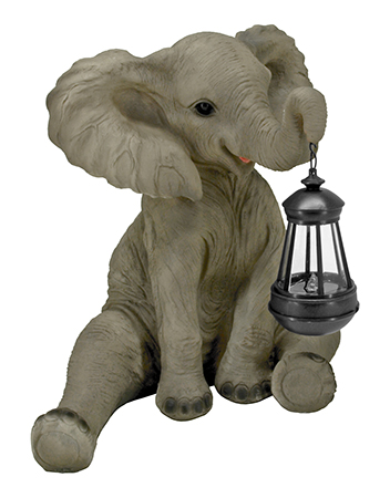 Lucky Light - Elephant Solar Lantern Light Figurine Statue