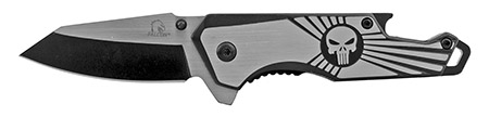 "4"" Stainless Steel Heavy Duty Folding Pocket Knife with Bottle Opener Handle - Black"