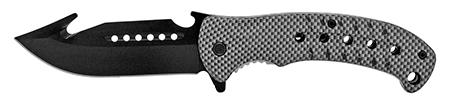 """5"""" Hunter's Helper Pocket Knife - Carbon Fiber"""