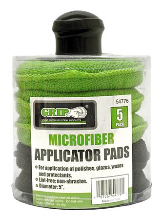 5 - pk. Microfiber Applicator Pads with Handle - Grip