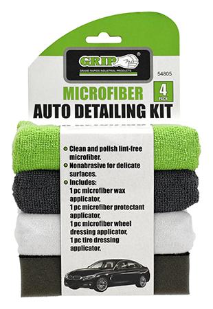 4 - pk. Microfiber Auto Detailing Kit - Grip