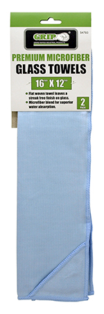 2 - pk. Premium Microfiber Glass Towels - Grip