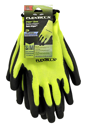 2 - Pair Flexzilla Gripper Gloves - Comes in Assorted Sizes