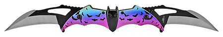 "5.75"" Dual Blade Bat Pocket Knife - Night Sky"