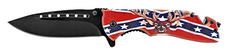 """5"""" Confederate Deer Folding Pocket Knife"""