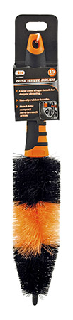 """15"""" Automotive Detail Cone Wheel Brush with Handle - Illinois Industrial Tool"""