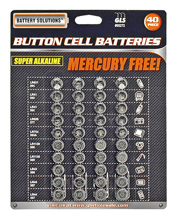 40-pc. Button Cell BATTERIES