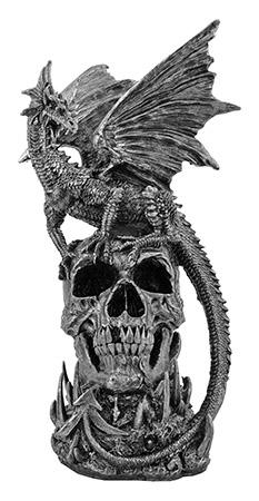 "DWK Presents 17.75"" Draco Dragon Thrones Statue Figure - Gothic Skull Series"
