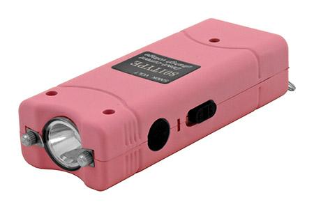 Thunder Blast Sleek Stun Gun Flashlight with Carrying Case - Pink