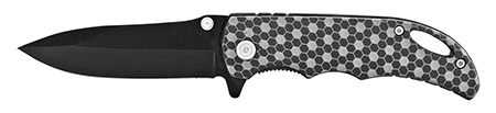 """4"""" Folding Pocket Knife with Belt Clip - Carbon Fiber"""