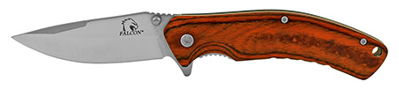 """4.5"""" Old School Folding Pocket Knife with Wooden Handle - Silver"""