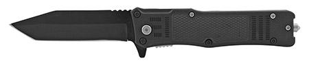 "5"" Tactical Folding Pocket Knife with Glass Breaker - Black"
