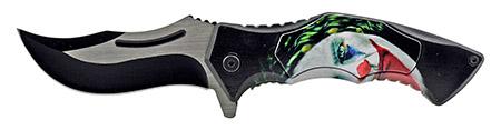 """4.75"""" Carving Folding Pocket Knife - Dark Knight Joker"""