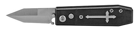 "3"" Stainless Steel Coffin Switchblade Pocket Knife - Black"