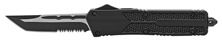 """5.5"""" Heavy Duty Out the Front Pocket Knife - Black"""