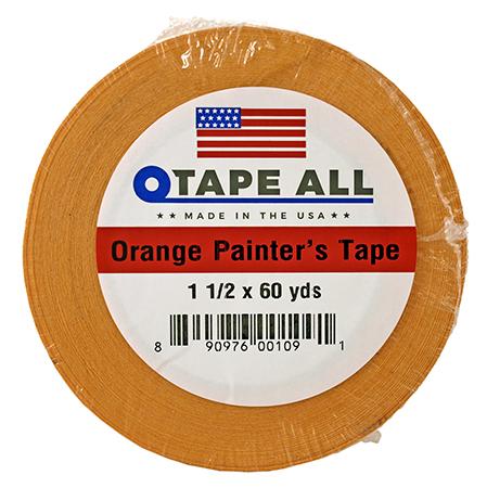 "1.5"" x 60yds. Orange Painters Tape"