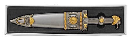 "12.5"" SPQR Roman Republic Acting Prop Heavy Duty Display Dagger Knife with Sheath"