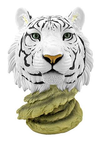 Tigris White Snow Tiger King Bust Statue Figurine - DWK