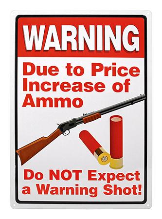 Warning Shot Metal Sign