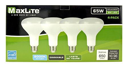 4 pk. BR30 LED Directional Lamp Light Bulb - 650 Lumens - 5000K