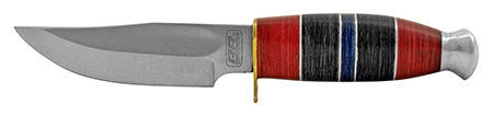"""10.5"""" Classic Heavy Duty Hunting Knife - Blue and Red"""