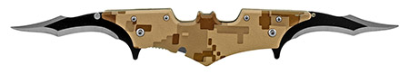 "5.75"" Dual Blade Batman Folding Pocket Knife - Desert Camo"