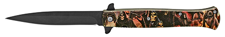 ''5'''' Stiletto Folding Pocket KNIFE - The Reaper's Pit''