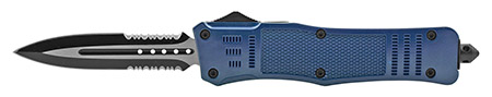 """5.75"""" Telescoping Out the Front Folding Pocket Knife - Blue"""